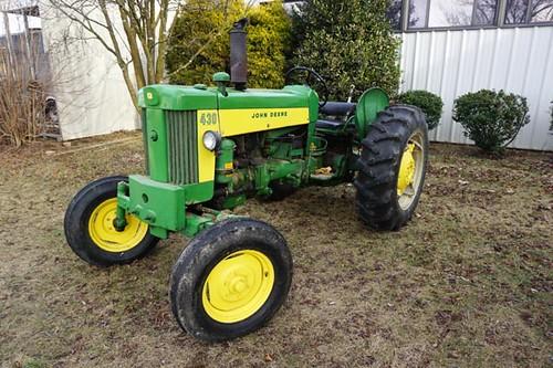 Late 1950s John Deere 430 Gas Tractor ($2,912.00)