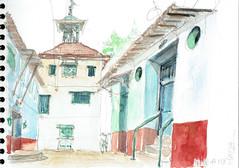 Kochi, India (Croctoo) Tags: croctoo croctoofr croquis crayon aquarelle water kochi cochin india inde