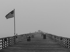 Into the Fog (Tony Tavares) Tags: a7riii architecture bw beach boardwalk fishermen flag flaglerbeach florida flying fog mist mood palmcoast pier explore explored explorer travel traveller vacation ngc