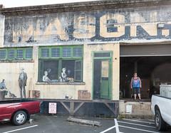 Mason (UrbanphotoZ) Tags: mural streetart urbanart industrialbuilding storefront door windows women cats men standing hat pigtail office 2001 fuller sandra howard sears astoria oregon