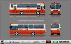 14 098 Viação Bola Branca - Caio Gabriela - Mercedes Benz LPO 1113 reflexo (busManíaCo) Tags: busmaníaco desenhodeônibus desenho febrabus equipepaintbus equipe paintbus