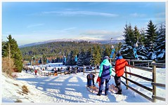 Rodeln am Torfhaus (Don111 Spangemacher) Tags: schnee harz gebirge naturpark rodeln winter winterlandschaft urlaub reisen niedersachsen norddeutschland