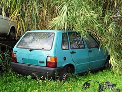 1988 Fiat Uno 45 (Alessio3373) Tags: abandoned abandonedcars autoabbandonate unused unloved neglected forgotten forgottencars autoshite abandonment fiatuno45 fiatuno youngtimers