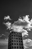 IMG_1942 (fiore_lla4ever) Tags: carboniacityofminers whitetower prospettiva uptothesky blackwhite canoneos6d flower