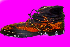 pink shoe (t.horak) Tags: pink brown shoe boot laces old leather