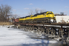 Chilled (sully7302) Tags: nysw sd60 susquehanna new york jersey hackensack bogota river frozen bridge freight yellowjacket emd train transport transportation trains railroad western bergen county