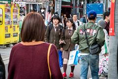 Students in Amerikamura, Osaka - Japan (Marconerix) Tags: osaka japan kansai amerikamura street urban people studenti girls students walking afterschool japanesegirl young