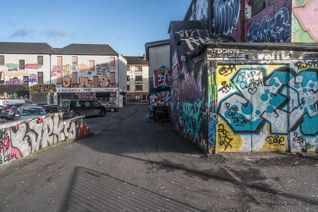 STREET ART AT THE TIVOLI CAR PARK IN DUBLIN [LAST CHANCE BEFORE THE SITE IS REDEVELOPED]-135621