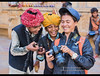 Photographer and her subjects enjoying the moment, Rajasthan, India (jitenshaman) Tags: asia asian travel destination worldlocations india indian rajasthan rajasthani jaisalmer photographer photo camera camerawoman nikon kids funny fun laugh happy happiness great boys boy children turban turbans clowning joking joker picture photograph friendship enjoy enjoyment