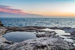 Sunset @ Stoja beach (NRG SHOT) Tags: pula pola croazia croatia hrvatska istria istra adriatico adriatic stoja sunset scogli nrgshot nikon d600 roccia oceano mare cielo acqua tramonto baia paesaggio spiaggia yongnuo 35mm fullframe