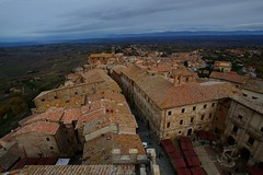 montepulciano from the top (moniq84) Tags: montepulciano toscana tuscany italia italy top street christmas time cloudy winter december houses roofs people holidays landscapes cityscape nikon sigma city town trees clouds sky green red