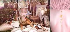 Gentle Faun {731} (Rainbow PixieFarts) Tags: pinklion tentacio psychobyts kibitz ayashi song okkbye peaches plastik halfdeer ionic epiphany blush shinyshabby deer fawn faun gentle flowers fish birds sl secondlife