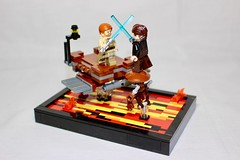 StarWars: Episode 3 Revenge of the Sith Anakin vs Obi-Wan (LEGO Shusuke) Tags: clone clonetrooper starwars mustafar lego minifigures jedi army minifigure clonewars armory custom episode3 ai moc mine duel war sith vader force lightsaber ifttt instagram darth alien minifig mech droid diorama