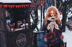 on the winter street II (AzureFantoccini) Tags: bjd street christmas winter snow doll abjd balljointeddoll sd outdoor miniature diorama granado eva emon ozin5 hybrid supia jiin chloe cafe