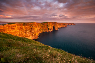 The Iconic Cliffs Of Moher At Sunset On The West Coast Of Ireland