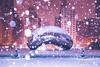 (2.8.18)-Winter_Storm_Mateo-WEB-5 (ChiPhotoGuy) Tags: chicago winter snowglobe snow snowy storm mateo weatherchannel architecture cold frozen snowstorm cloudgate thebean sculpture