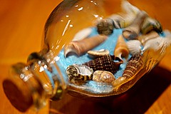 beach in a bottle 🐚 (lindseysutherland2) Tags: sony hmm macro cork glass blue shell sand bottle macromonday inabottle macromondays