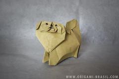 "40/365 Pekingese by ""212moving"" (origami_artist_diego) Tags: origami origamichallenge 365days 365origamichallenge dog pekingese"
