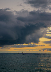 // for a moment i was not lost (pnwbot) Tags: storm sunset clouds cloud massive sails pacific ocean
