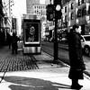 J'ai aimé ce moment dans la lumière... (woltarise) Tags: montréal centreville autobus arrêt stm intersection soleil hiver lumière iphone6s streetwise