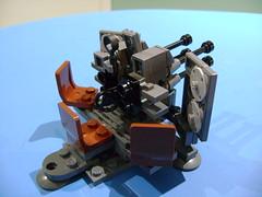 DSC09222 (TekBrick) Tags: lego ww2 canon 38 war soldier moc grey gray flakvierling prototype minifigure custom brick german