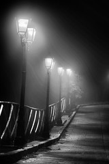 street lamps (Angelo Petrozza) Tags: street lamps fog nebbia montescaglioso blackandwhite biancoenero bw light angelopetrozza pentaxk70 100mm