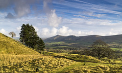 Vale of Edale (l4ts) Tags: landscape derbyshire peakdistrict darkpeak edale broadleebanktor thegreatridge pennineway trees signpost barkerbank backtor losehill