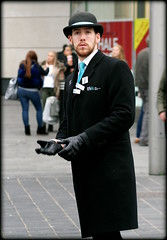 Michael (* RICHARD M (Over 7 MILLION VIEWS)) Tags: street candid portraits portraiture streetportraits streetportraiture candidportraits candidportraiture liverpoolwelcomeambassador welcomeambassadors thewelcomepeople liverpool merseyside liverpudlians merseysiders scousers scouse europeancapitalofculture capitalofculture maritimemercantilecity bowlerhat bowler blocker derbyhat beards bearded whiskers bewhiskered tourism england unitedkingdom uk greatbritain britain britishisles maninblack ambassador liverpoolambassador leathergloves blackleathergloves overcoat longblackovercoat dapper badges bowlerhatted