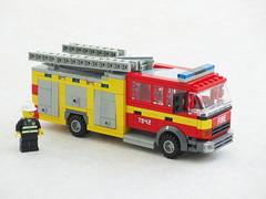 British pumper (Mad physicist) Tags: lego fire engine