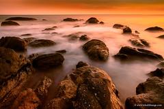 Rocks on Sky (bnilesh) Tags: nobody outdoor beautiful dusk horizontal landscape mist nature sky sunset