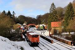 Goathland Station - NYMR - 2018-01-19 (BillyGoat75) Tags: goathlandstation goathland nymr northyorkshiremoorsrailway rollingstock bridge track railway winter snow trees northyorkshire