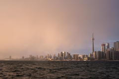 Incoming Storm (Aymeric Gouin) Tags: canada toronto ontario city skyline cntower lake lac building architecture ville lakeside water eau sunset coucher soleil light lumière travel voyage aymericgouin aymgo nature