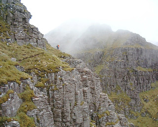 Liathach - Am Fasarinen pinnacles, by-pass track