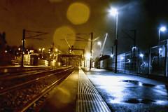 Rails of the night (M4x G4x) Tags: rails gare train station night light rain pluie lumière nuit voie ferrée