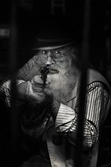 Itchy Trigger Cowboy (Colorsnap Photography) Tags: cowboy arizona west america portrait gun