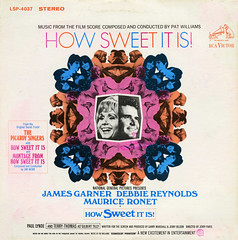 How Sweet It Is! (Jim Ed Blanchard) Tags: soundtrack movie film lp album record vintage cover sleeve jacket vinyl pat williams how sweet it is james garner debbie reynolds paul lynde terry thomas picardy singers psychedelic centered mirror image