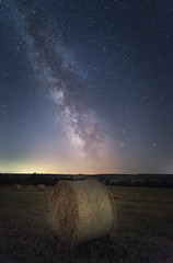Summer starry night in the field (Ivan Dimov) Tags: blue landscape bale beautifuldestinations beautifultime colors colourful field haybale lonely longexposure magic nature outdoorphotography relaxation sky starrynight stars travel