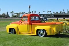 11th Annual Cal-Rods Car Show (USautos98) Tags: 1955 ford f100 pickuptruck hotrod streetrod custom flames