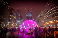 Bubble by Matthew Teager (Teager Photography) Tags: d750 nikon bromleycameraclub canarywharf winterlights london colour pdi