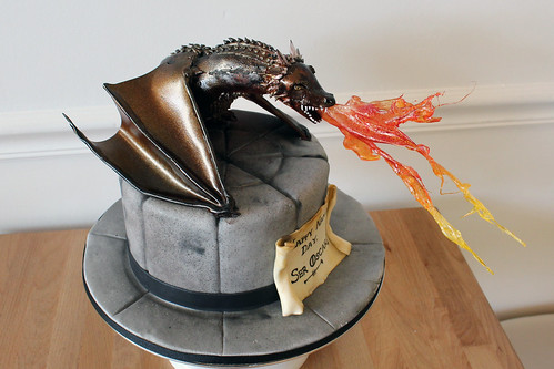 Game of Thrones Dragon Cake