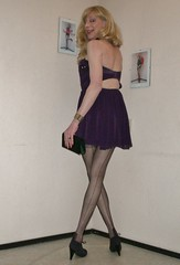 Old fashioned stockings. (sabine57) Tags: crossdressing transvestism crossdress crossdresser cd tgirl tranny transgender transvestite tv travestie drag pumps highheels stockings nylons seamedstockings seamednylons dress purse handbag clutch