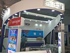 just more hours to complete the setup MGH and Spicejet, Air cargo india 2018 (aircargoindia) Tags: aircargo aviation logistics freight supplychain shipping