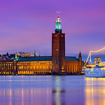 _MG_2930 - Stockholm City Hall in blue hour thumbnail