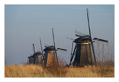 Ein Wintertag in KINDERDIJK  III (Babaou) Tags: niederlande nederland kinderdijk mühle windmühle windmill windkraft windmolen molen weltkulturerbe worldheritagesite zuidholland winter