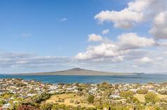 Rangitoto from Mount Victoria (russellstreet) Tags: devonport newzealand haurakigulf cloud rangitoto mountvictoria sky bluesky auckland northshorecity mtvictoria