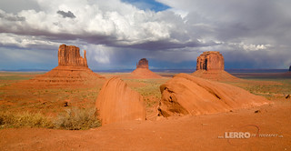 Monument Valley Distant Storm