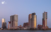 Silent whitnesses of a sunset (Robert Stienstra Photography) Tags: rotterdam skyline skylines 010 southholland architecture architecturalphotography cityscape cityscapes longexposure longexposurephotography bigcity slowshutter sunset sunsets city nikond7100 tokina1224mm waterfront bluehour