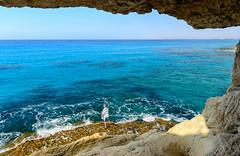 I wish... (George Plakides) Tags: fishing blue mediterranean cyprus ayianapa seacaves