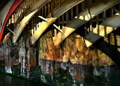 Under the bridge (PentlandPirate of the North) Tags: manchester bridge railway industrial textures ~flickrinnes flickrinnes