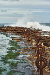 Rusty Posts (Stueyman) Tags: sony alpha ilce a7 a7ii fe 85mm newcastle newsouthwales au australia sea sky water waves ocean pacificocean
